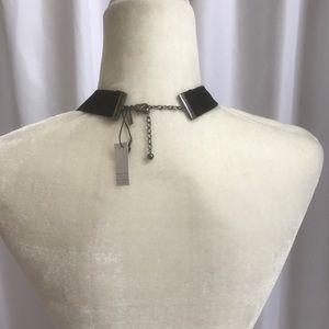 White House Black Market Jewelry - Hematite Blue Beaded Velvet Statement Necklace